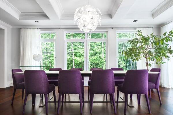mor yemek odası takımı